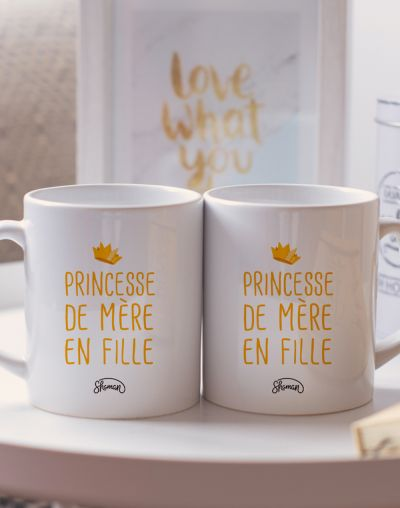 "Mugs duo ""Princesse de mère en fille"""