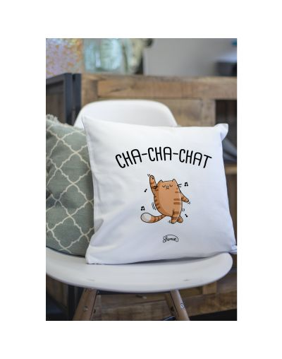 "Coussin ""Chachachat"""