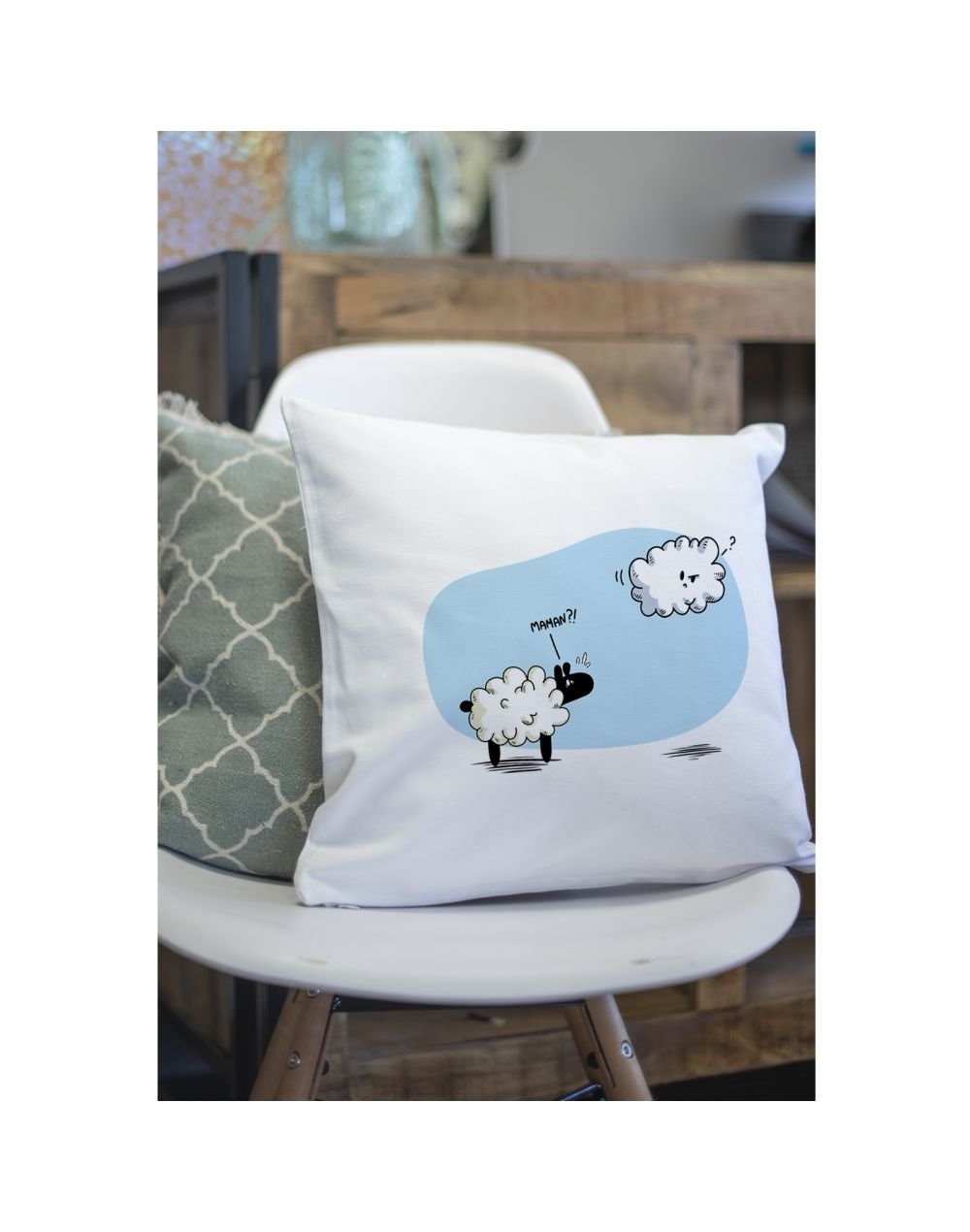 "Coussin ""Maman mouton"""