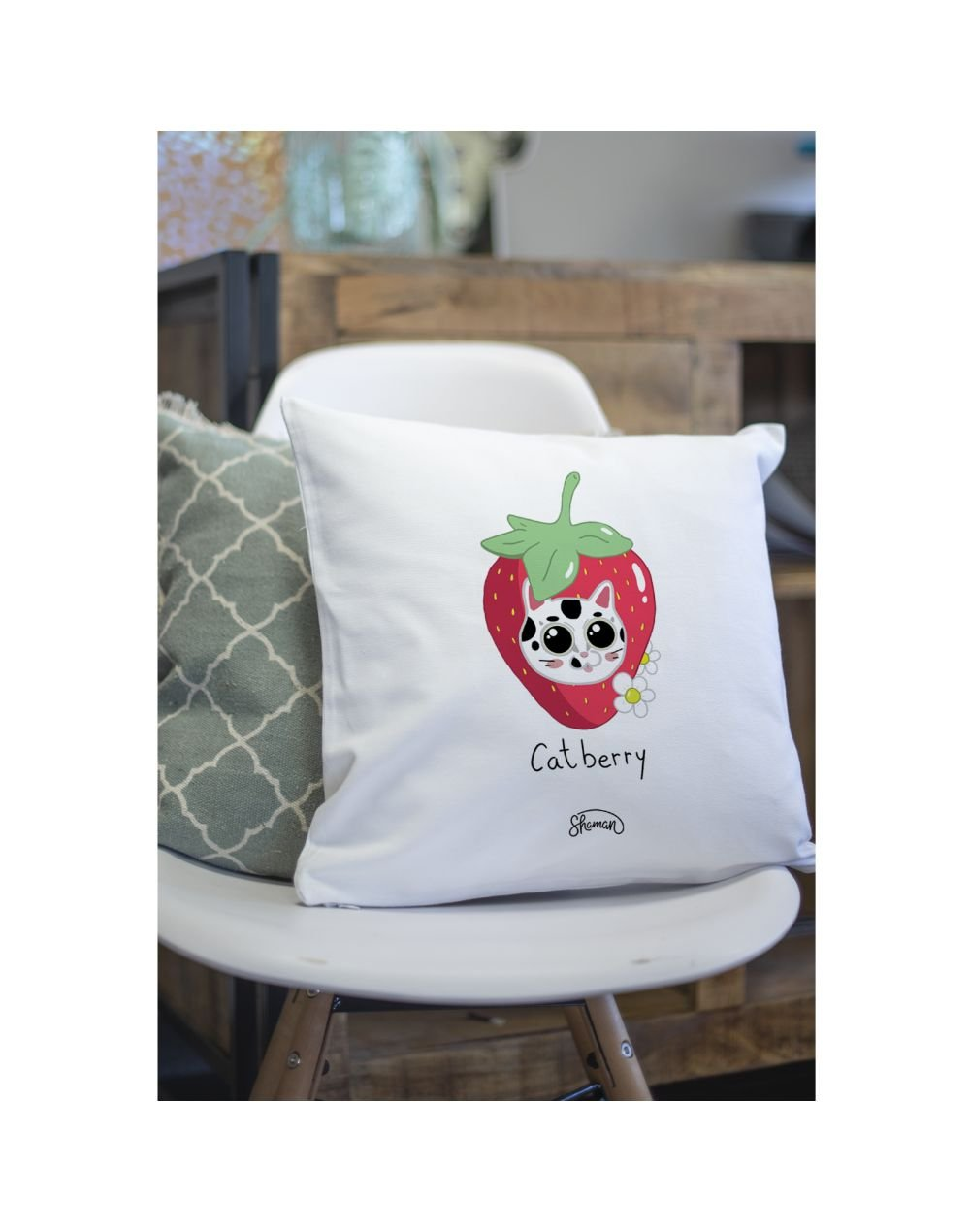 """Coussin """"Catberry"""""""