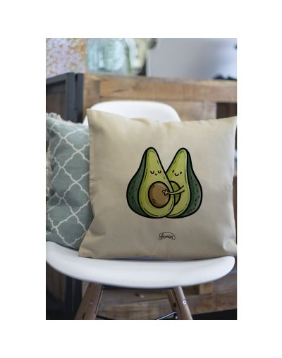 "Coussin ""Avocats couple"""