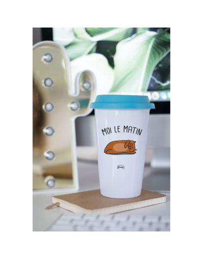 "Mug Take away ""Moi le matin"""