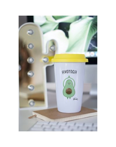 "Mug Take away ""Avo-yoga"""