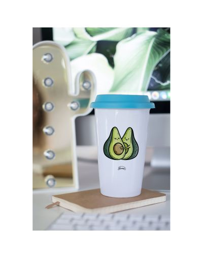 "Mug Take away ""Avocats couple"""