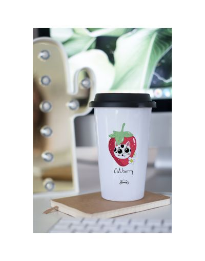 "Mug Take away ""Catberry"""