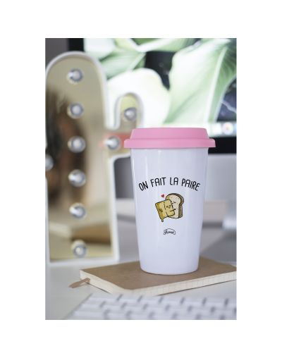 "Mug Take away ""On fait la paire"""