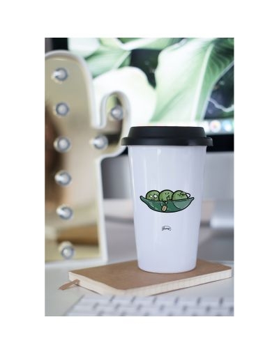"Mug Take away ""Petit pois kayak"""