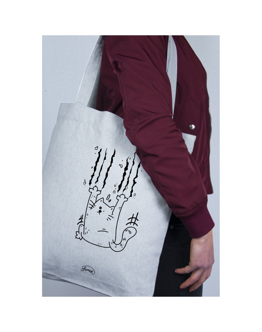 "Tote Bag ""Chat griffe"""