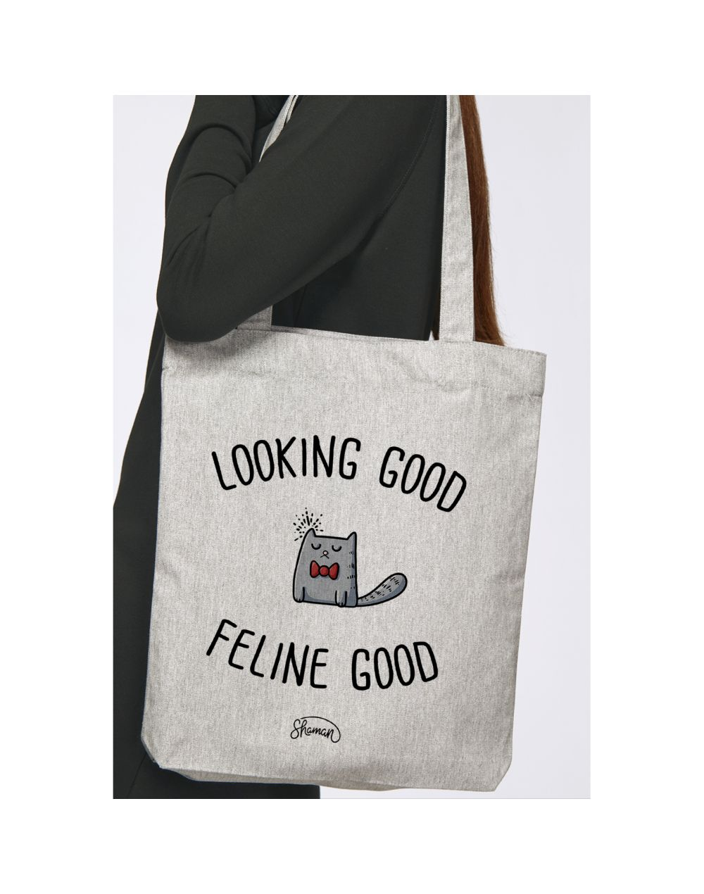 "Tote Bag ""Looking good feline good"""