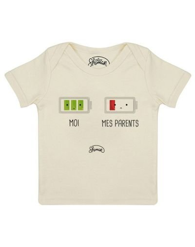 "Tee-shirt ""Mes parents batterie"""