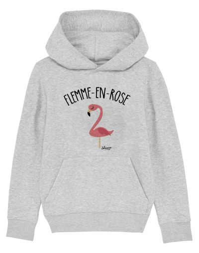 "Sweat capuche ""Flemme en rose"""