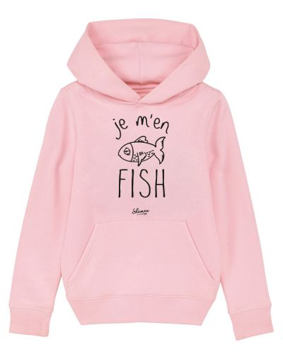 "Sweat capuche ""Je m'en fish"""