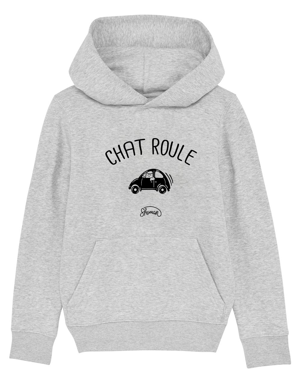 "Sweat capuche ""Chat-Roule"""