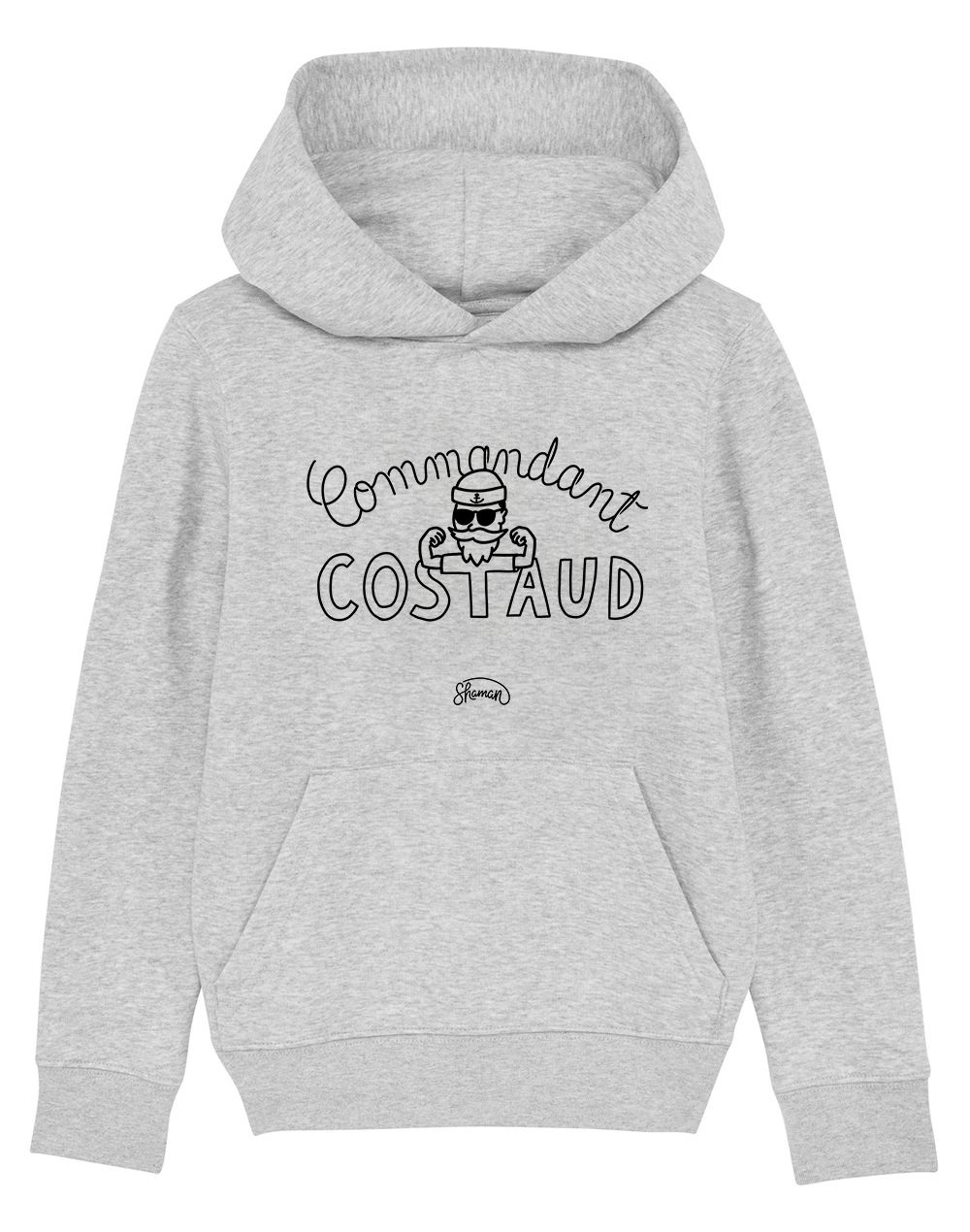 "Sweat capuche ""Commandant Costaud"""