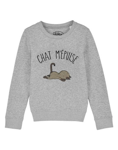 """sweat """"chat m'epuise"""""""