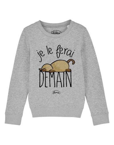 "Sweat ""Je le ferai demain chat"""