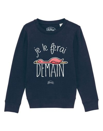 "Sweat ""Je le ferai demain flamant"""