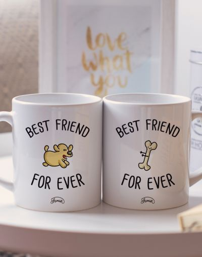 "Mugs duo ""Best friends for ever"""