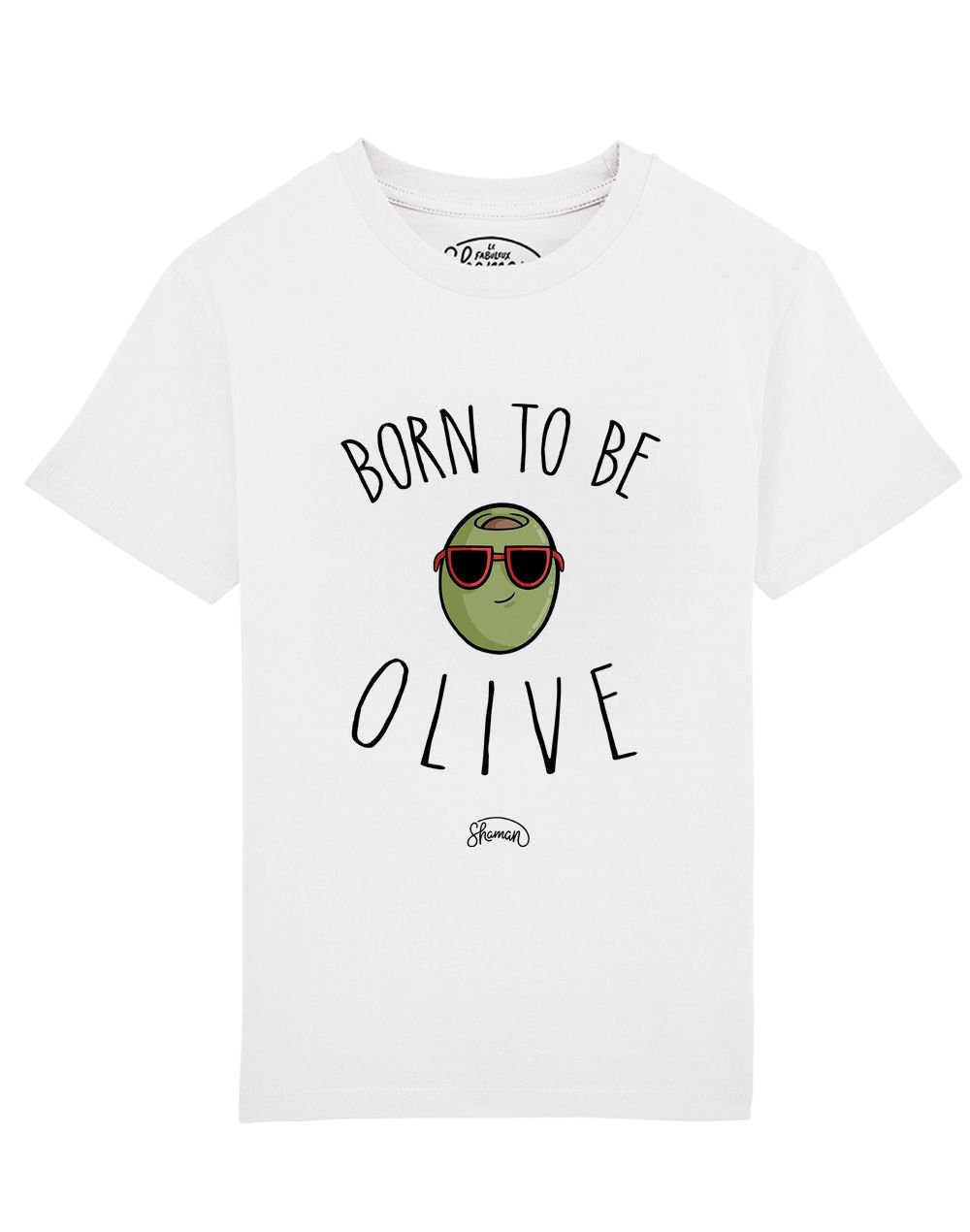 Tee shirt Born to be olive
