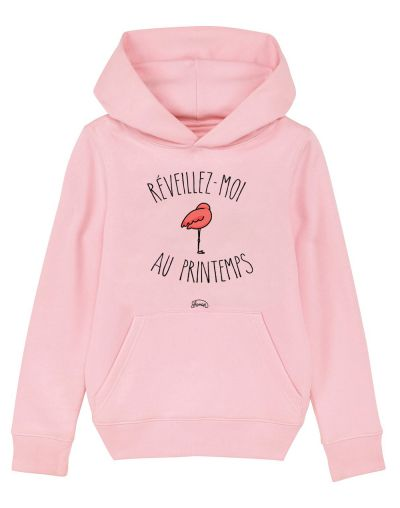 "Sweat capuche ""Reveillez moi au printemps"""