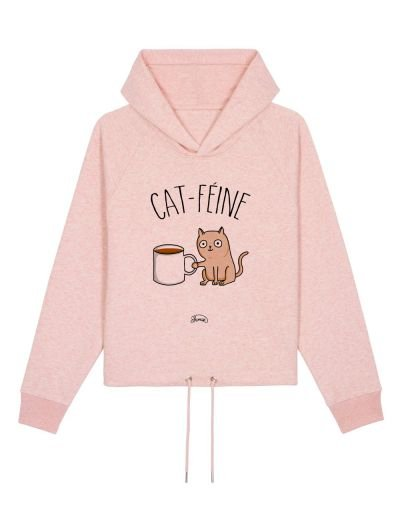 "Sweat capuche ""Cat féine"""