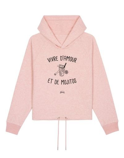 "Sweat capuche ""Amour et Mojitos"""