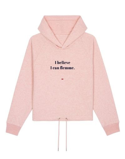 "Sweat capuche ""I can flemme"""