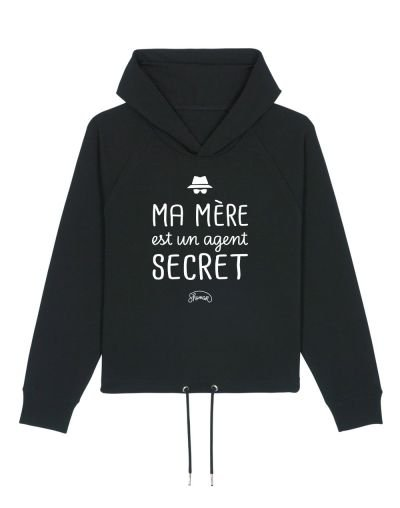 "Sweat capuche ""Maman agent secret"""