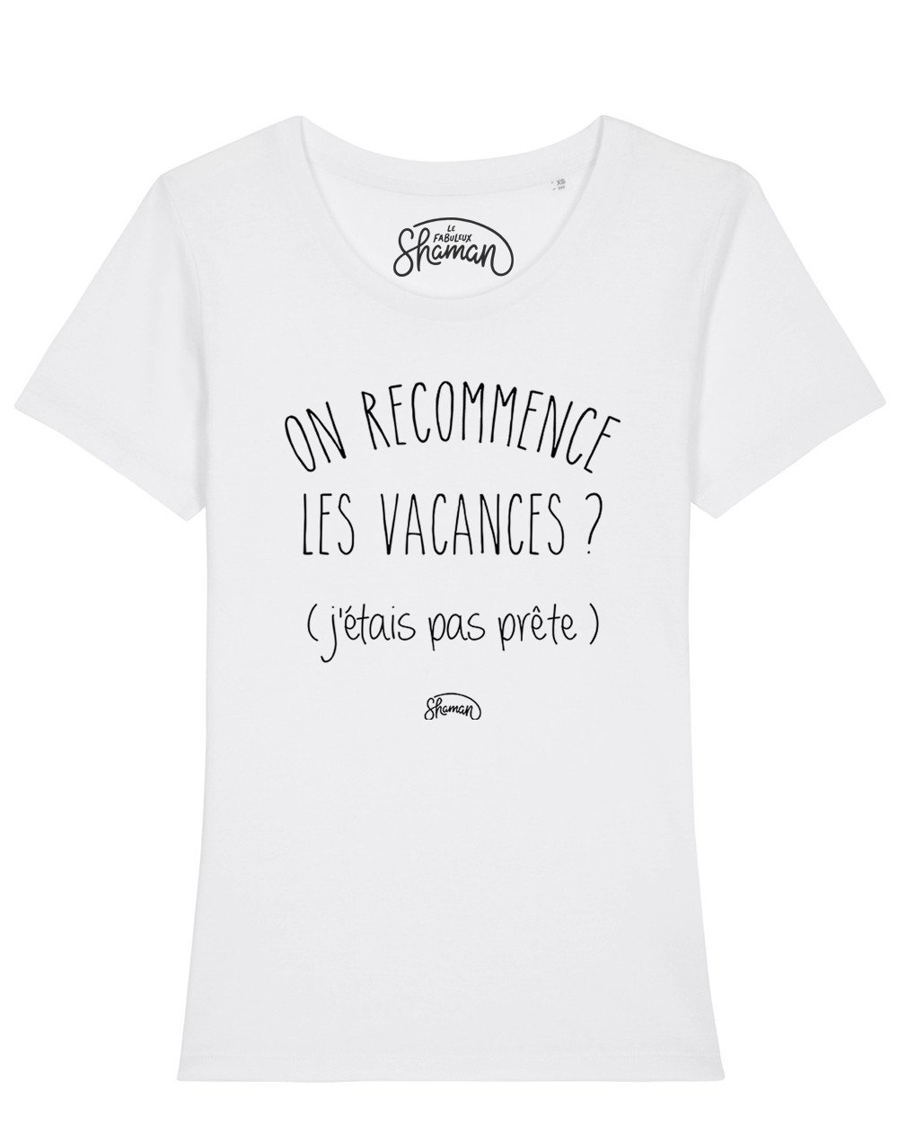 "T-shirt ""On recommence les vacances ?"""