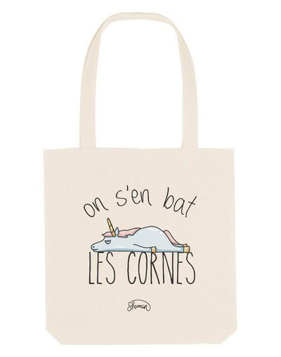 Totebag ON S'EN BAT LES CORNES